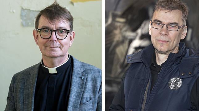 """Namnet """"Kyrkan i Helsingfors"""" fungerar marknadsföringsmässigt, anser Stefan Forsén, men mindre bra ur ett ekumeniskt perspektiv enligt Jani Edström."""