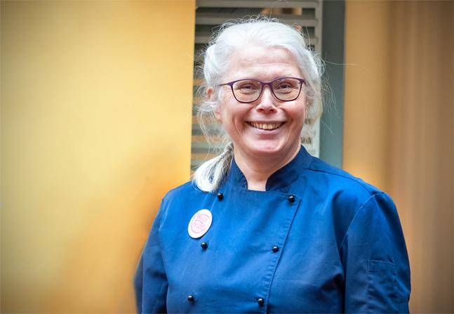 Att jobba med svinnmat har fått Liisa Haveri att känna mer glädje och tacksamhet för maten.