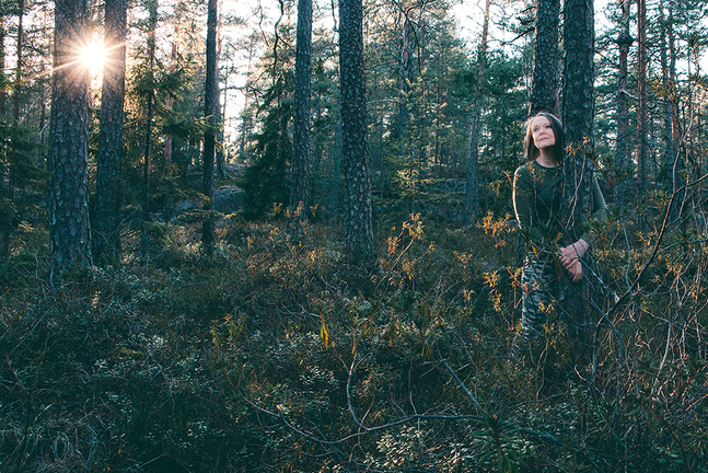 I skogen hittar Nina Lindfors tröst och frid.
