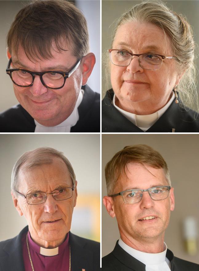 Stefan Forsén, Helene Liljeström, Erik Vikström och Johan Westerlund väntar med intresse på vilken väg Bo-Göran Åstrand ska ta när han axlar biskopsrollen.