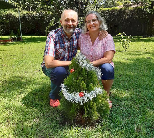 Jul kan firas i alla väder.Kristian och Chamilla Sjöbacka firade sin jul i Kisumu.