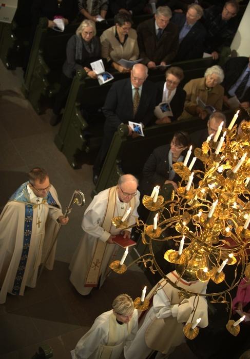 Festprocession, biskop Björn Vikström och ärkebiskop emeritus John VIkström.