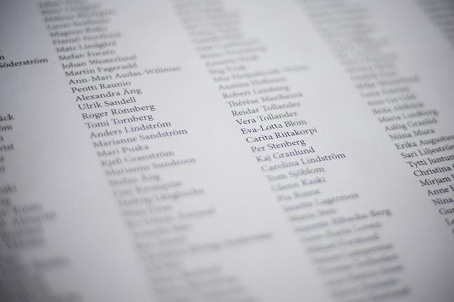 Över 300 personer har undertecknat uppropet.