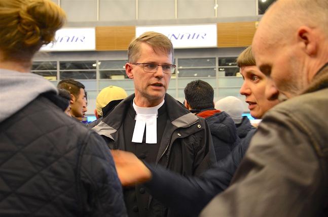 Johan Westerlund deltog i demonstrationen mot Finlands avvisningar till Afghanistan.