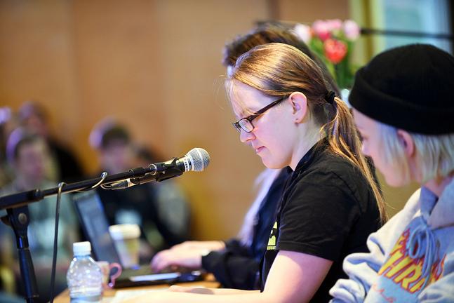 Alina Blomberg fyller 30 år nästa år, vilket betyder att det här året är hennes sista på Ungdomens kyrkodagar.