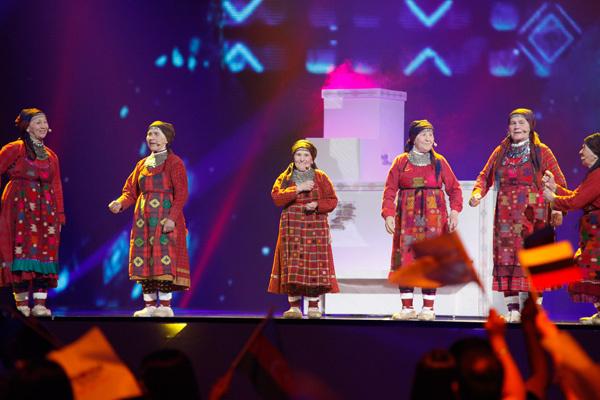 De udmurtiska babusjkorna kom på andra plats i eurovisionsfinalen.