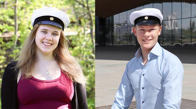 Karin Westerlund blev student från Karis-Billnäs gymnasium och Axel Falck blev student från Brändö gymnasium.