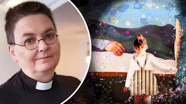 Katarina Gäddnäs har varit präst i två år.  – Men jag började läsa teologi genast efter gymnasiet med inriktning på att bli sjukhuspräst.