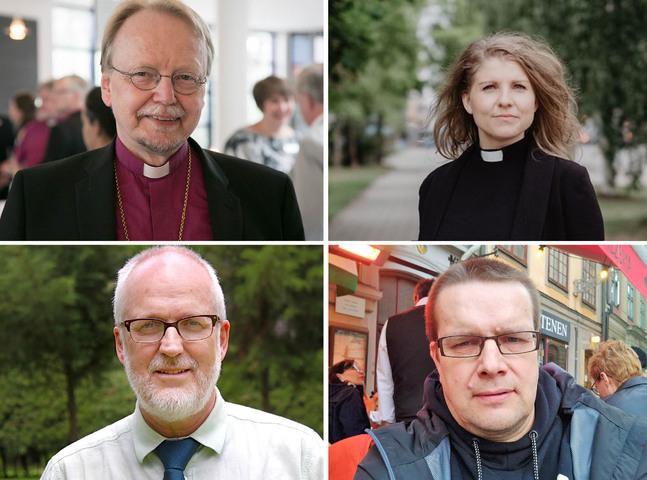Kari Mäkinen, Emma Audas, Göran Stenlund och Jan-Erik Andelin analyserar biskop Björn Vikströms arv.