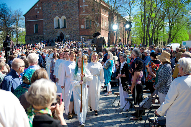 I maj 2017 såg det ut så här när  finlandssvenska ekumeniska kyrkodagar och finska kyrkodagar ordnades i Åbo – då som en del i firandet av reformationens märkesår.
