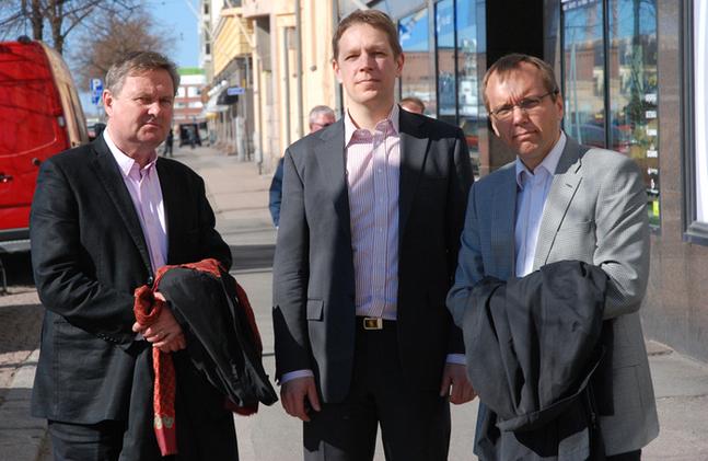 Olav S. Melin, Marcus Henricson och Björn Vikström.