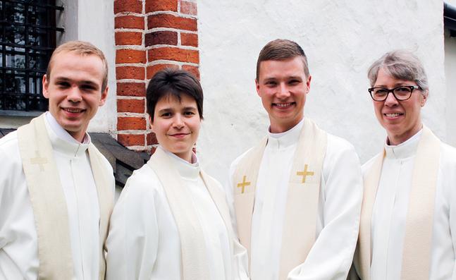 Benjamin Sandell, Carolina Lindström. Karl-Kristian Willis och Yvonne Terlinden.