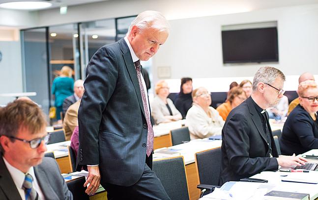 Olli Rehn lyfte fram att kyrkan har en uppgift i ett Europa som utmanas av nationalism och själviskhet.