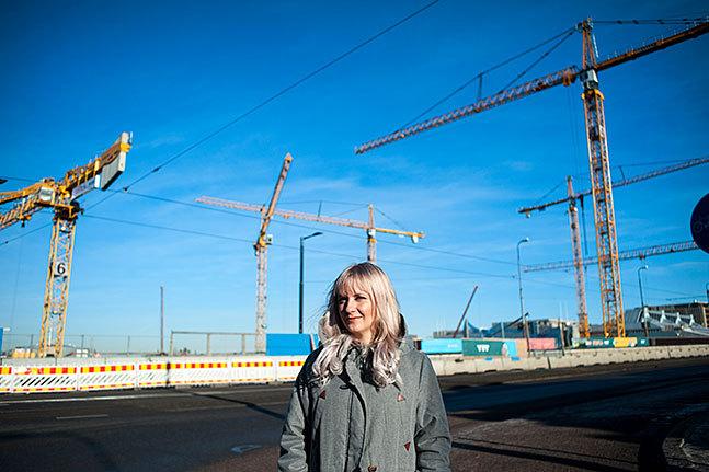 Pia Marttila jobbar på Brotts- offerjouren i Helsingfors. Kontoret finns  i Böle.