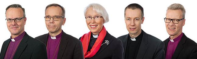 Tapio Luoma, Björn Vikström, Heli Inkinen, Ville Auvinen eller Ilkka Kantola är vår nya ärkebiskop.