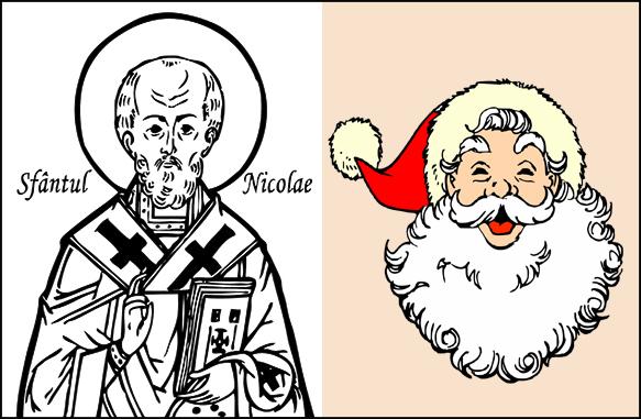 Sankt Nikolaus sägs ha inspirerat till uppkomsten av Santa Claus.