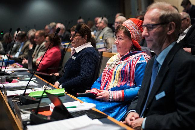 Ulla-Maarit Magga, som representerar samerna i kyrkomötet.