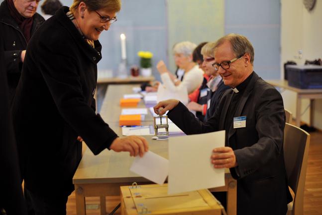Roger Rönnberg, här fotad i samband med församlingsvalet 2014, går i pension nästa år.