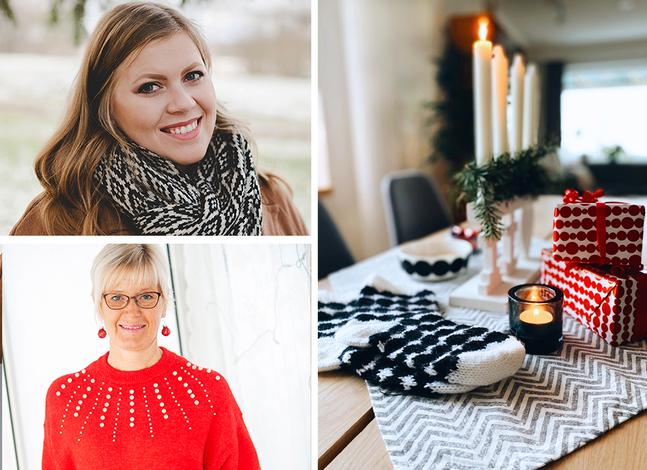 Hanna-Madeleine Andersson (ovan) och Vivian Krokfors älskar julen!