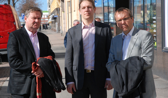 Olav S. Melin, Marcus Henricson och Bj�rn Vikstr�m.