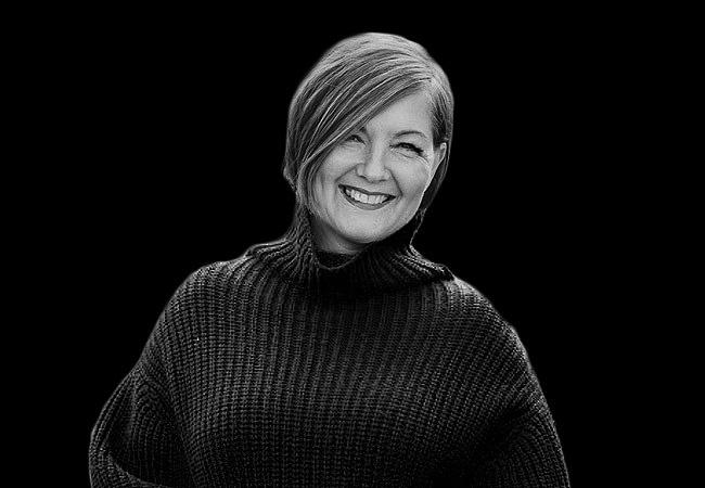 En svartvit bild av Maria Sundblom Lindberg